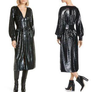 Joie Kyria B Caviar Sequins Midi Dress